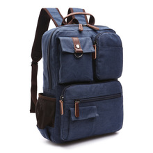 Students School bags book bags Backpack boy men Multifunction mochila Top quality canvas Large big capacity Pack Laptop 15.6inch все цены