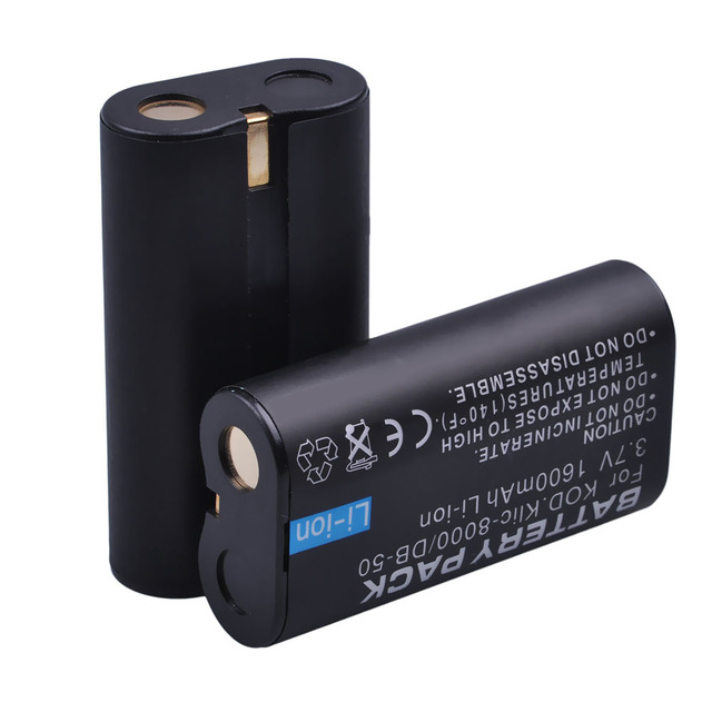 3X1600 mAh KLIC-8000 KLIC 8000 Batterie Rechargeable pour RICOH DB50 Kodak Zx1 ZxD Z612 Z712 Z812 Z1012 Z1015 Z1085 Z1485 Z8612