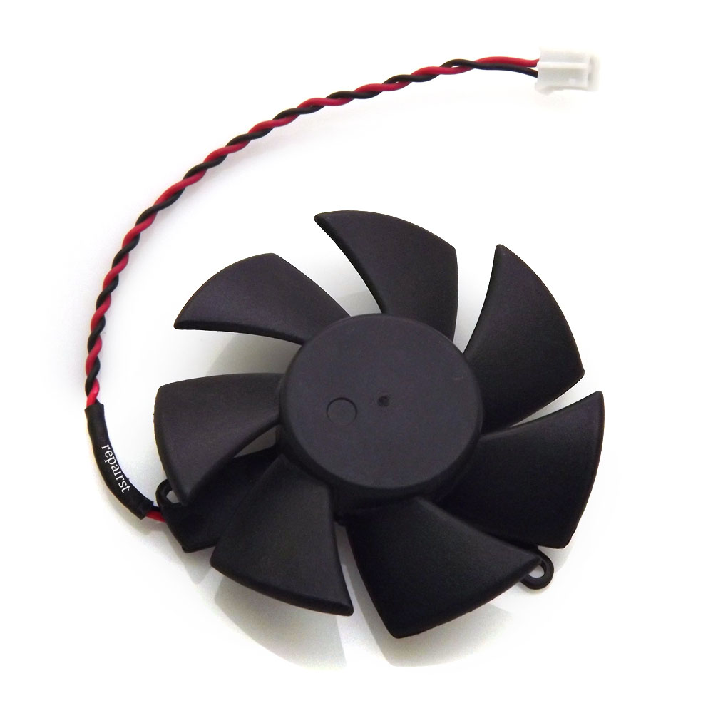 free shipping 45mm 0.1A 2pin VGA cooler graphics Card cooling Fan For ELSA GLADIAC GT 430 LP 1GB GD430-1GERGL Cooling ga8202u gaa8b2u 100mm 0 45a 4pin graphics card cooling fan vga cooler fans for sapphire r9 380 video card