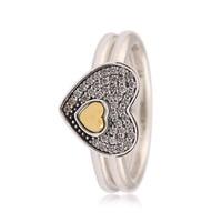 925 Sterling Silver Corando Enigma Pilha Anel Anel Para Mulheres Presente da Festa de Casamento fit Pandora Jóias Finas