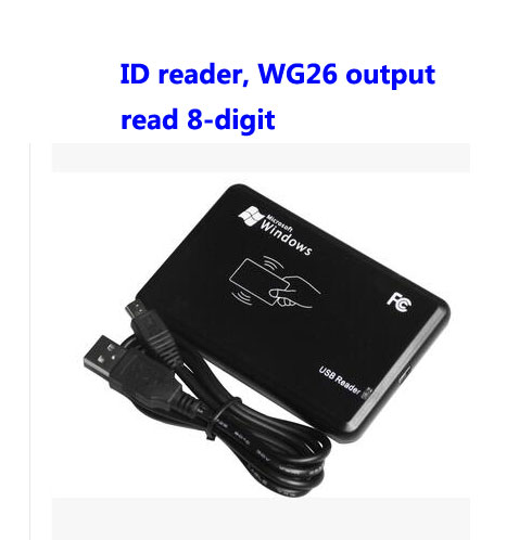 Free ship ,RFID reader, USB desk-top card dispenser, USB EM card reader,Read 8-digit, WG26 format output ,sn:06C-EM-8,min:1pcs magnetic card reader msre206 magstripe writer encoder swipe usb interface black vs 206 605 606 ship from uk us cn stock