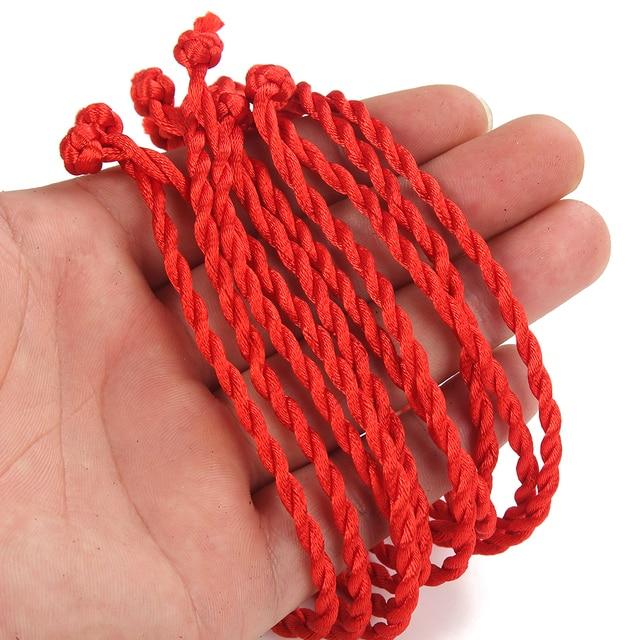 10 adet kırmızı halat Örgü Şanslı El Yapımı Bilezik Geleneksel Çince Düğüm Balmumu Dize Bilezik Takı Hediyeler Kadınlar Için Erkekler