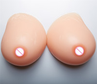 4100g/pair Huge Cup Silicone Breast Forms Fake Breast Shemale Crossdresser Artificial Boobs Natural Hanging Sexy cleavage