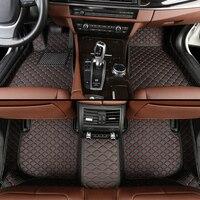leather car floor mats for Renault All Models Clio captur kadjar fluence Captur Laguna Megane Latitude car styling