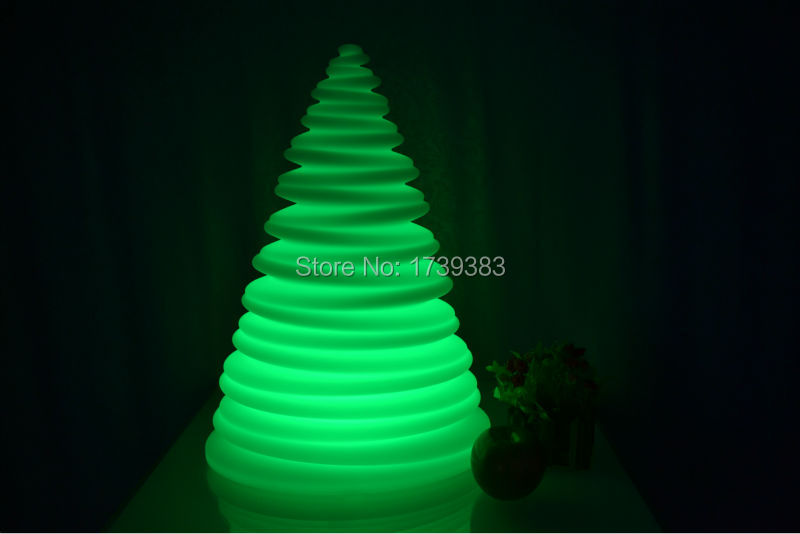 4pcslot touch senor waterproof multicolor led christmas tree night light rechargeable led rasengan tower kids light gift