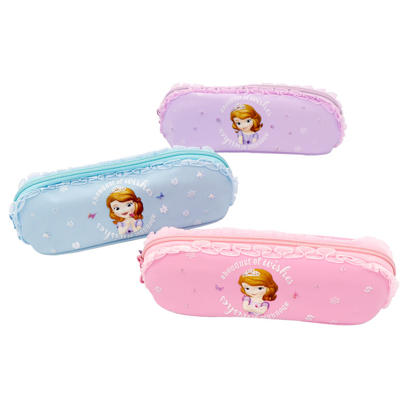 Cute Girl Pencil Case Student Stationery Creative School Supplies High Capacity Pouch Sofia Lace Pencil Case