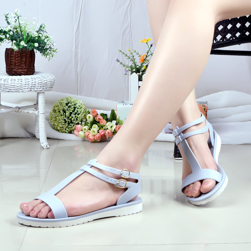 8dc4e7836753 2016 Summer new women s simple Roma jelly plastic sandals Beach shoes four  colors freeship-in Women s Sandals from Shoes on Aliexpress.com