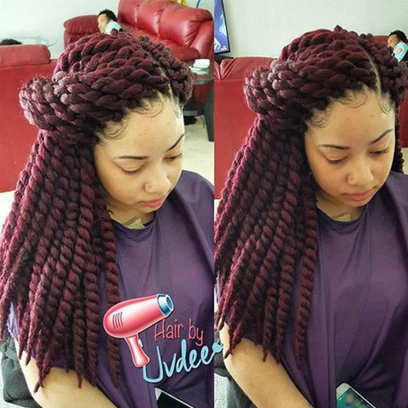 Red Hair Extensions Crochet Braids Havana Mambo Twist