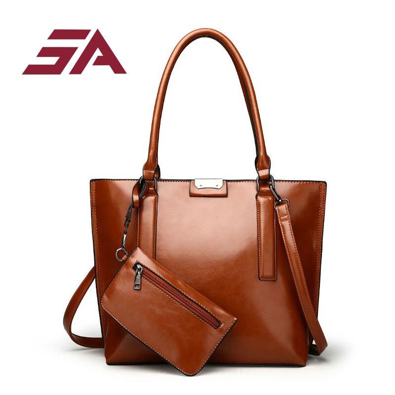SA 2017 nouveau PU cuir femmes sac à main femme sac à bandoulière filles Messenger sac décontracté femmes sac Shopper fourre-tout portefeuille 2