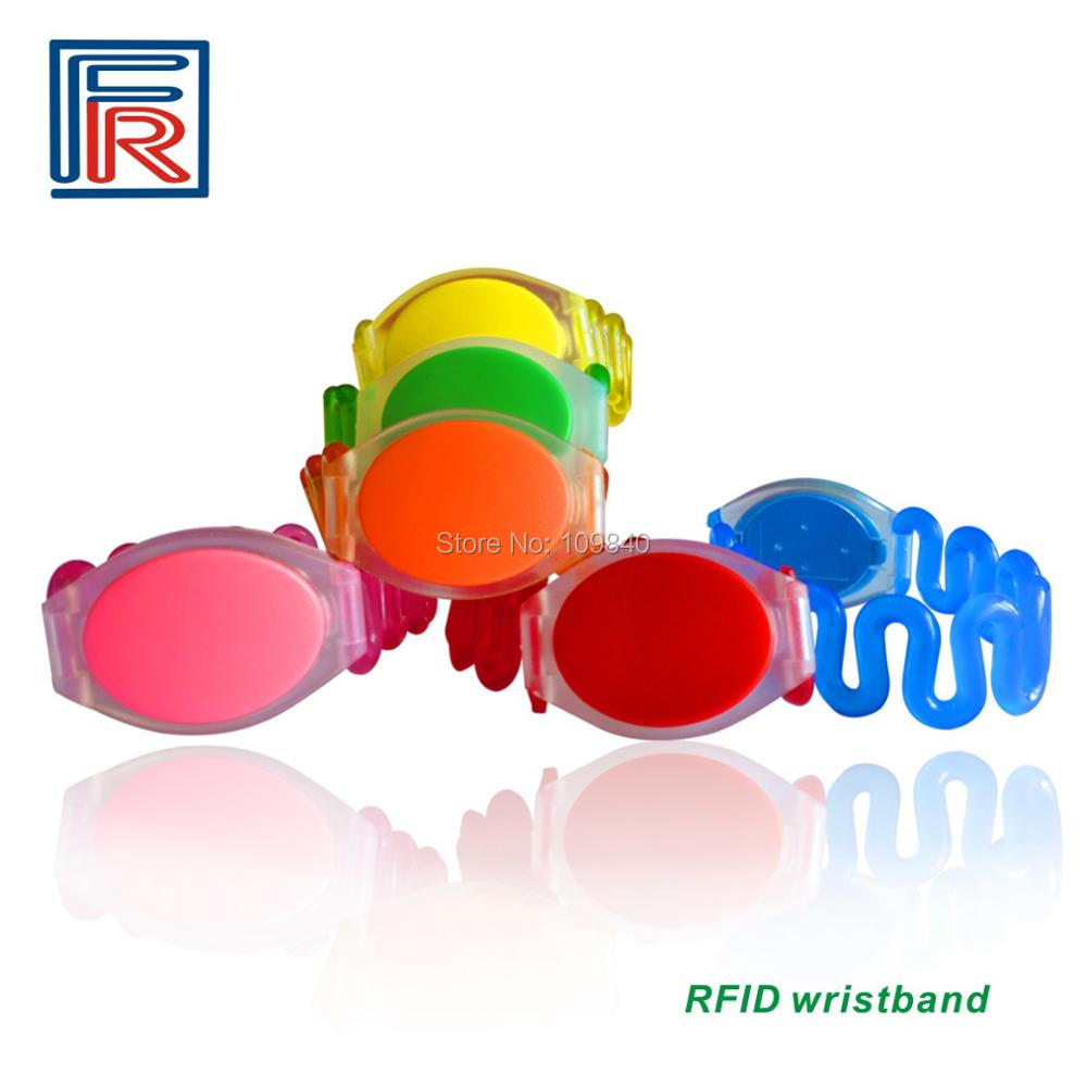 50pcs 13.56MHz ABS Waterproof RFID Wristband/Bracelet for access control/swimming pool/water park/suana rfid 125khz wristband with em chip waterproof abs bracelet for access control swimming pool fitness suana water park 100pcs lot