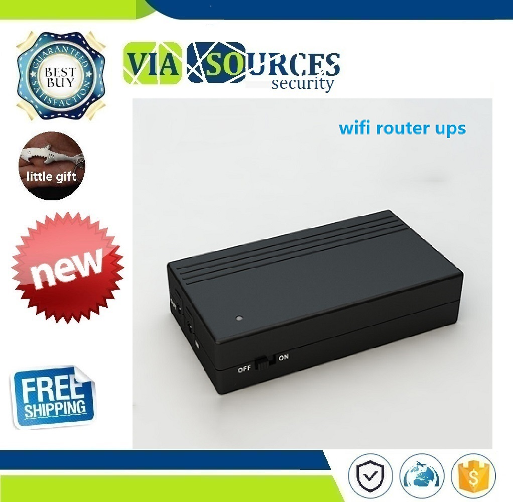 DC Input DC Output 12V 2A Ups Portable Power Supply 12 Volt Ups Backup Battery For Cctv Camera DVR NVR