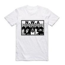 87652acb444b Fashion Men Print N.W.A Straight Outta Compton T Shirt O-Neck Short Sleeves  Summer NWA Hip Hop Cool Streetwear Top Tee Swag