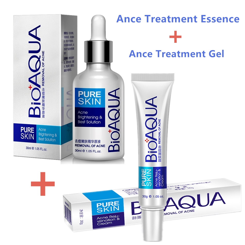 2Pcs Acne Scar Remove Cream & Essence New Spot Cream Gel For Cystic Acne Pimple Clear Skin Blackhead Whitening Melasma Treatment Онихомикоз