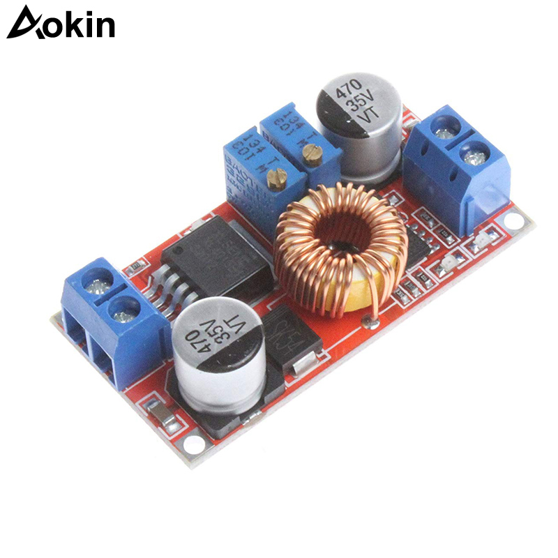 <font><b>DC</b></font>-<font><b>DC</b></font> <font><b>5</b></font>-32V to 0.8-30V Power Supply Module for Arduino <font><b>5A</b></font> Constant Current LED Driver Module Battery Charging Voltage image