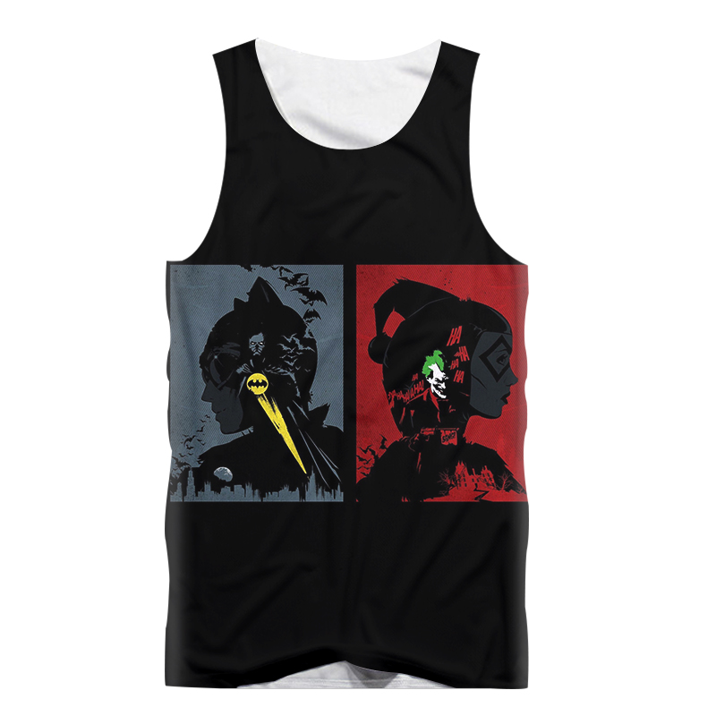 Us 9 87 38 Off Funny Tank Tops Men Sleeveless Vest Anime Suicide Squad Joker Harley Quinn 3d Print Tank Top Bodybuilding Fashion Tanktop In Tank
