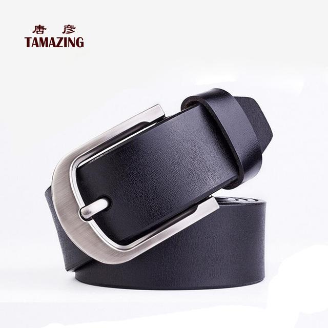 Pin fivela de cinto de couro genuíno dos homens cintos de designer cintos de alta qualidade do couro do couro para homens