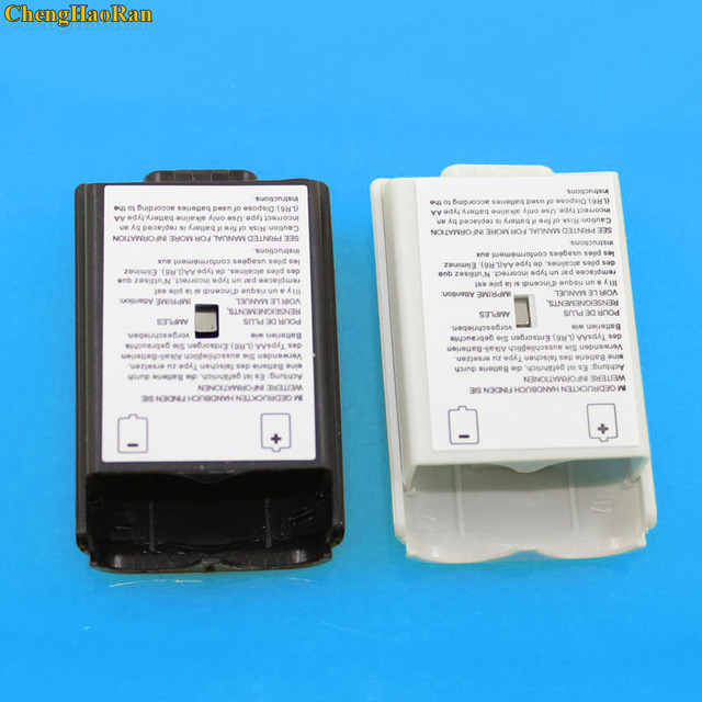 50 ピース/ロットためXbox360 ゲームコントローラバッテリーパックカバーシェルシールドケースxbox 360 ワイヤレスコントローラーのバッテリーシェル