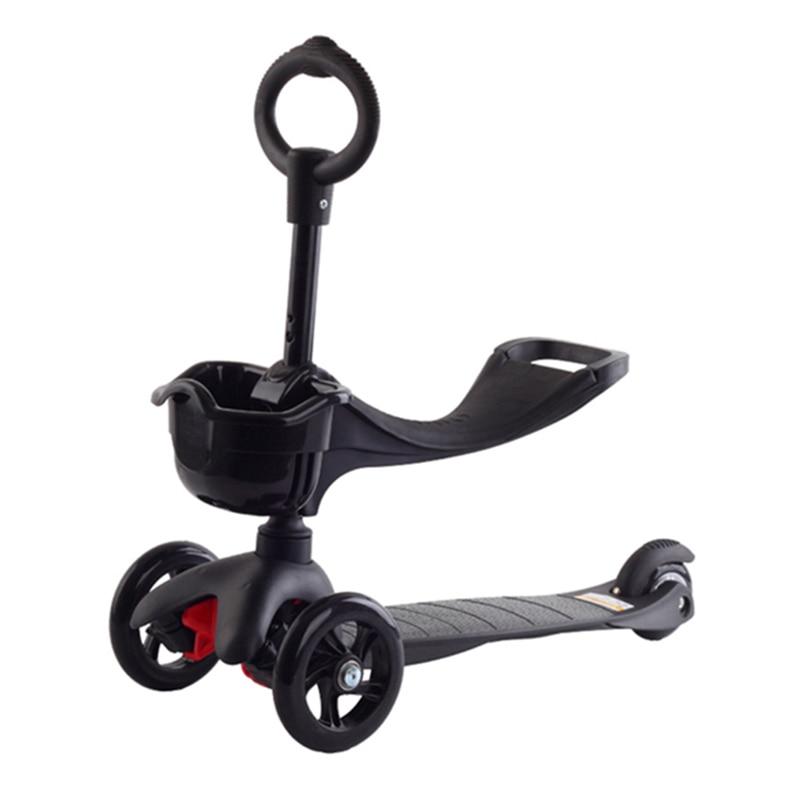 Marshki Mini 3 In 1 Kinder Roller Höhe Anpassen Können Roller Flash-rad Nette Roller 3 Räder Können Sitzen Gleiten Kann Baby Skateboard
