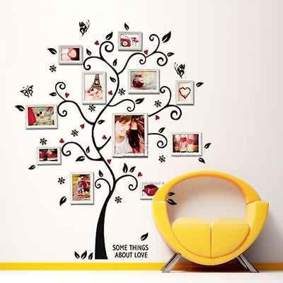 Diy da foto Da Árvore de Família adesivos de parede home decor quarto Projeto sala sofá poster decalques da arte da parede decoração da casa do vintage