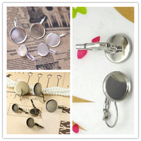 20pcs Lot 10mm 12mm 14mm 16mm 18mm 20mm Brass Silver Antique Bronze White K Plated Round