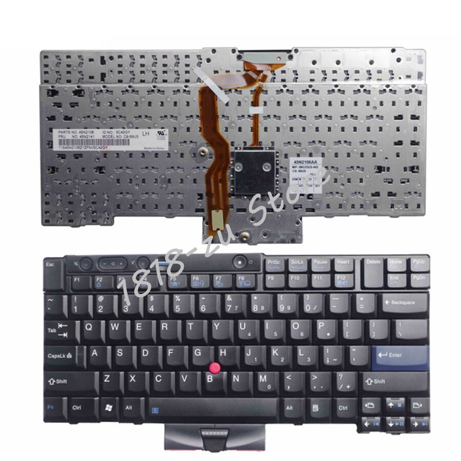 YALUZU New for Lenovo for Thinkpad for IBM T410 T410S T400S T520 T420 X220 W500 T510 W510 English laptop keyboard US FRU 45N2141