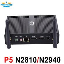 Причастником P5 Мини-ПК безвентиляторный NUC Мини-ПК с двойной hdmi Intel Celeron N2810 Baytrail Dual Core 2.0 ГГц