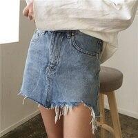 Women S Casual Denim Jeans Mini Skirts Female Summer Skirt