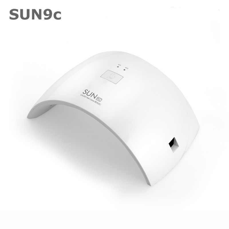UV LED Lamp 24W SUN9s SUN9c Double Light Nail Dryer Lamps Curing UV Gels Fingernail Toenail Gels Manicure Pedicure Varnish Dryer