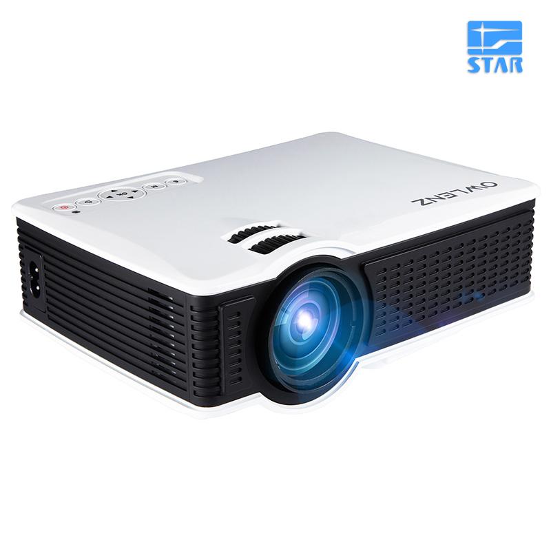 Prix pour D'origine owlenz sd50 plus multimédia portable mini projecteur led 800*480 home cinéma PC USB HDMI AV VGA SD pour La Maison cinéma