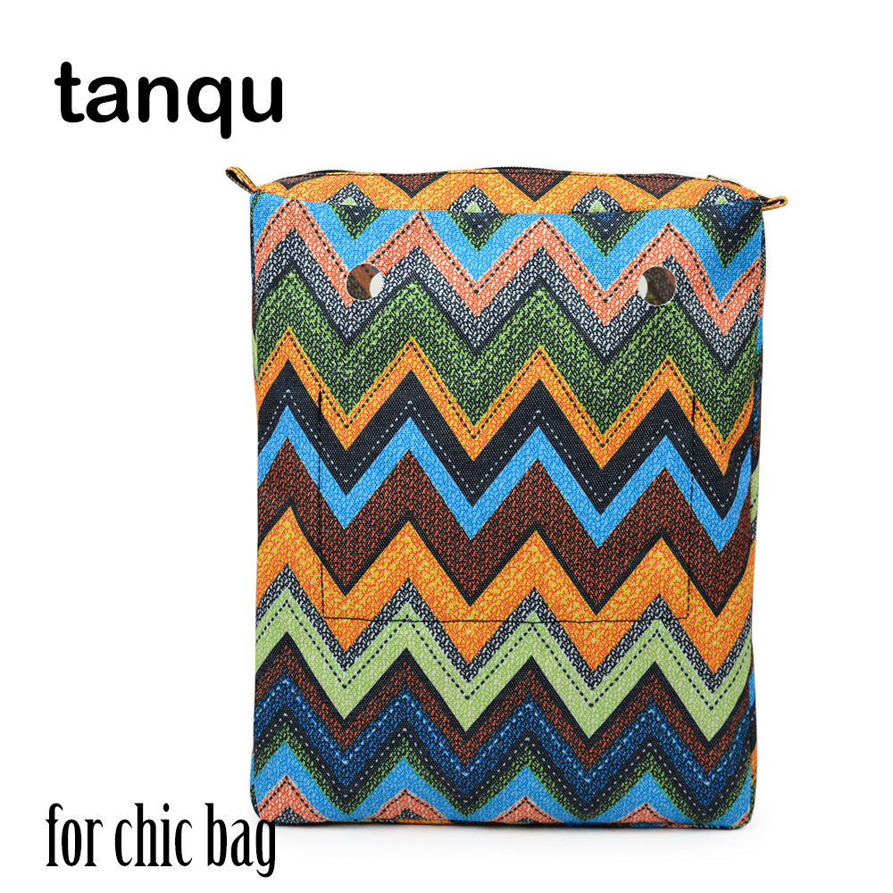 tanqu Tela Insert Lining for O CHIC OCHIC Colorful Canvas Inner Pocket Waterproof Inner Pocket for Obag chic colorful paillette pattern square shape flax pillowcase without pillow inner