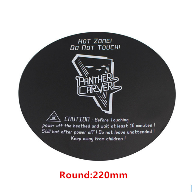 3d Printer Parts & Accessories 3d Printers & 3d Scanners Industrious Swmaker 3pcs 220mm Round 3d Printing Build Surface 220mm Diameter Round Black For Delta Kossel 3d Printer Heated Bed Clients First