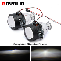 ROYALIN European Standard Car Styling Bi Xenon H1 Projector Headlights Lens 2 5 Inch LHD RHD