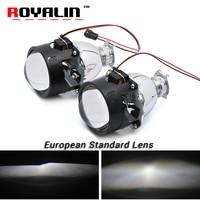 ROYALIN European Standard Car Styling Bi Xenon H1 Projector Headlights Lens 2 5 Inch LHD RHD