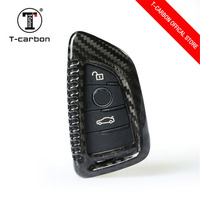 Black Car Key Case For BMW 1 2 3 4 5 6 7 Series X1 X3 X4 X5 X6 F30 F34 F10 F07 F20 G30 F15 F16 Car Key Cover 100% Carbon Fiber
