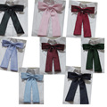 Kesebi 2017 Primavera Verano Mujer Casual Clásico Básico de la Escuela Estudiantes Mujeres Pure Color Uniforme Tie Corbatas Pajaritas Pajaritas