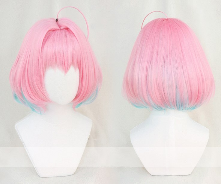 Yumemi Riamu Pink Mixed Blue Cosplay Wig STER CINDERELLA GIRLS STARLIGHT STAGE Halloween Role Play Synthetic Hair