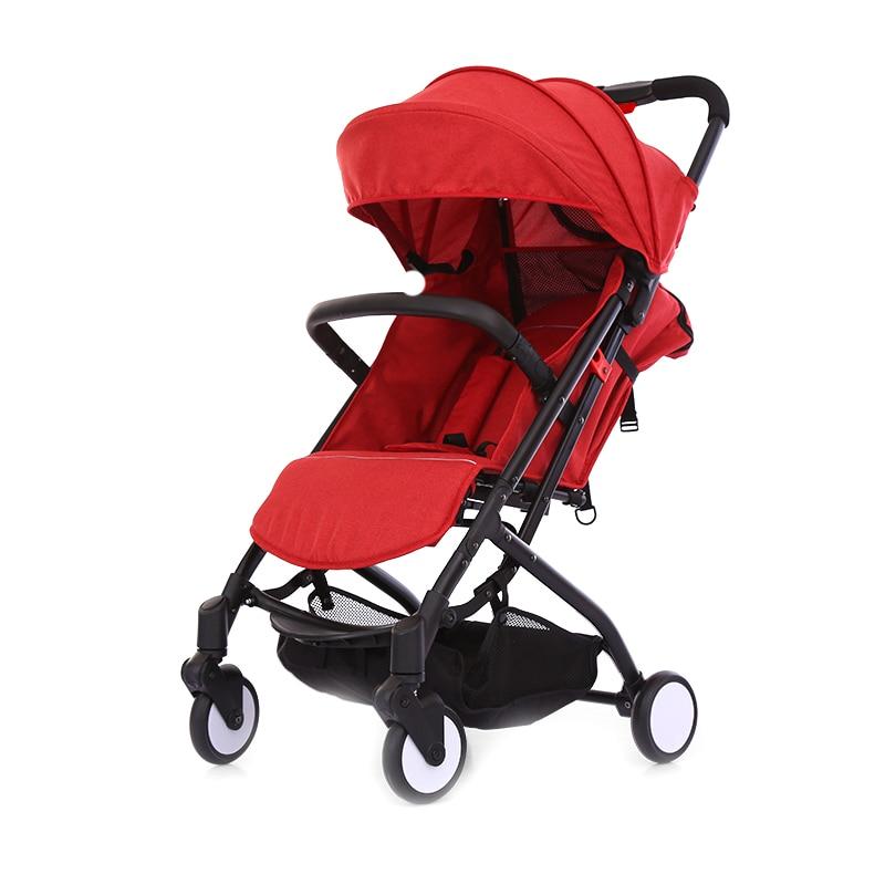 Kidsrun baby lightweight stroller can sit lie folding stroller ultra-light portable Traveling baby Pushchair infant trolley baby stroller folding rocking horse pushchair infant stroller gold frame