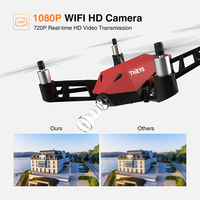 ThiEYE Dr.X WiFi PFV drone with 1080P HD Camera Live Video RC Quadcopter with APP Control facilitates selfie drones mini flycam