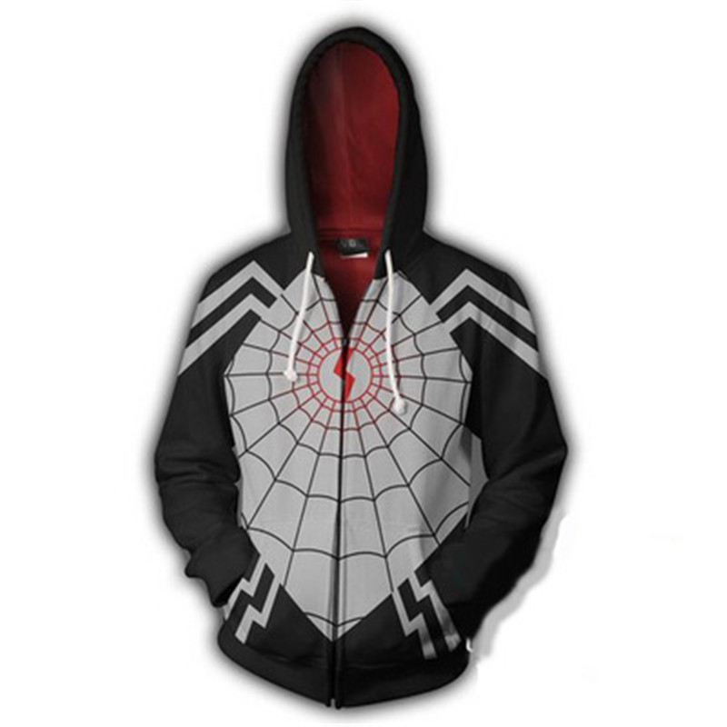 Dropshipping Movies Venoms Spiders Anime Cosplay Super Hero 3D Prints Zippers Cardigan Hooded Sport Jacket Halloween Casual Wear