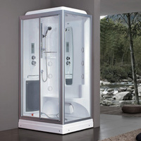1200mm Square figuration luxury steam shower enclosures bathroom steam shower cabins jetted massage walking in sauna rooms 8837