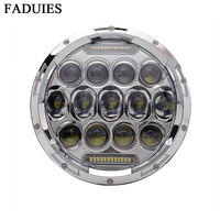 FADUIES 7 Inch Motorcycle Led Headlight 75W Daymaker Projector LED Headlight Assembly For Harley 2009 2013