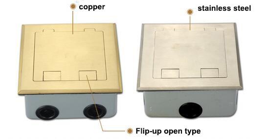 Flip-up type floor socket