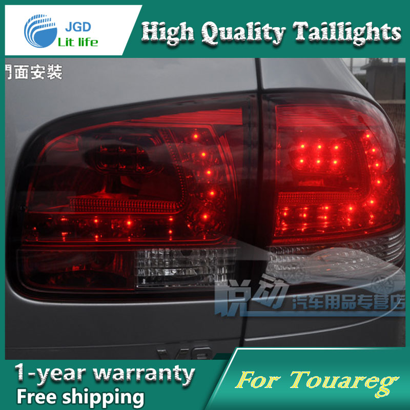 Car Styling Tail Lamp for VW Touareg taillights Tail Lights LED Rear Lamp LED DRL+Brake+Park+Signal Stop Lamp car styling tail lamp for vw jetta 2011 2014 tail lights led tail light rear lamp led drl brake park signal stop lamp