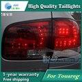 Estilo do carro Lâmpada de Cauda para VW Touareg luzes traseiras Da Cauda Luzes Traseiras LED Lamp LED DRL + Freio + Parque + sinal de Parada Da Lâmpada