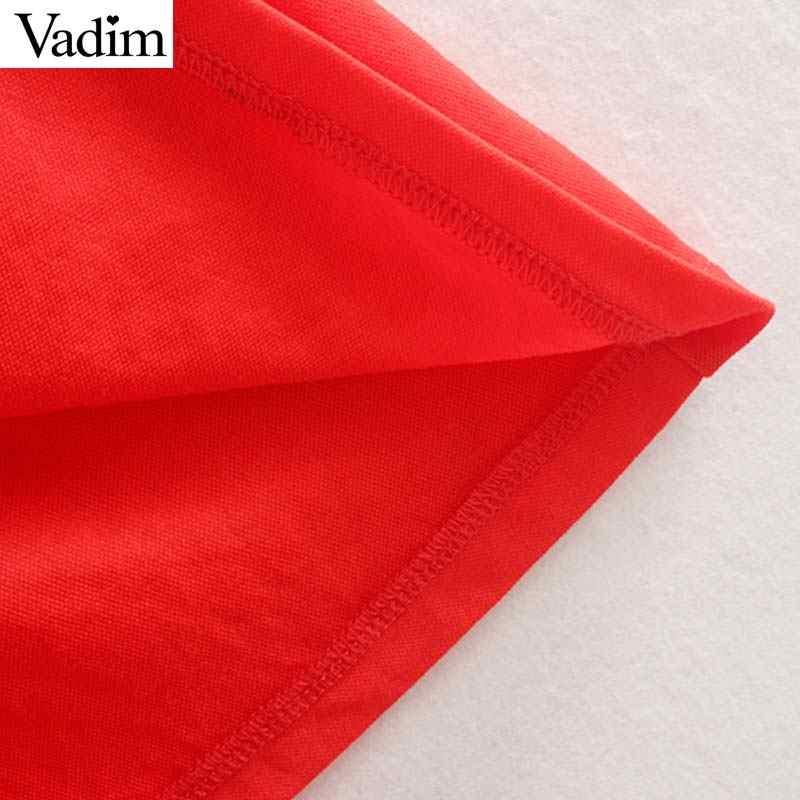 Женское элегантное платье vadim красное Макси-платье с v-образным вырезом без рукавов с галстуком-бабочкой и поясом на молнии сзади Женская праздничная одежда Шикарные Длинные платья QC463