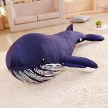 60-150cm 1 pcs Simulation Giant Size Whale Shark Doll Pillow Plush Toy Sea Animal Shark Blue Whale Birthday Gift стоимость