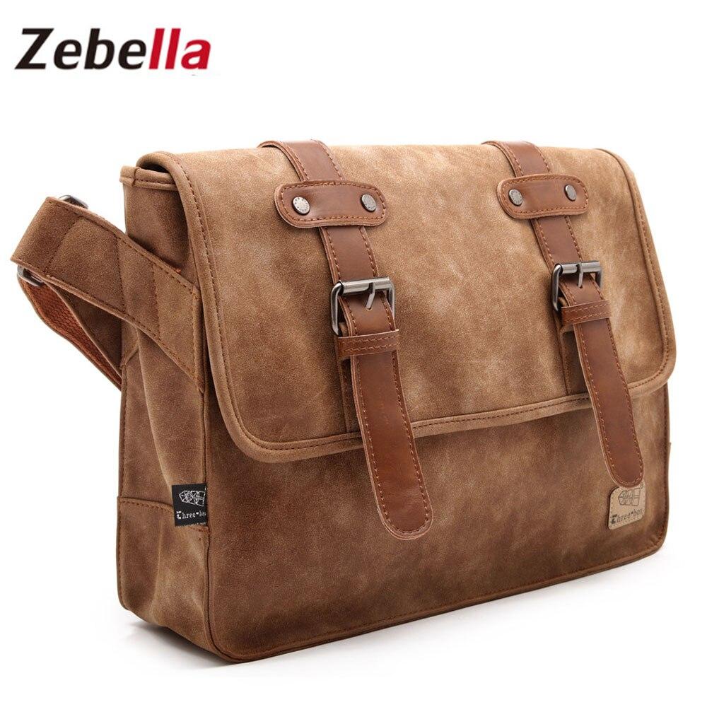 ФОТО Zebella 2017 Famous Brand Leather Men Shoulder Bag Casual Business Satchel Men Messenger Bag Vintage Men's Crossbody Bag bolsas