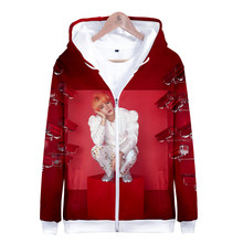 Neue 2018 Kpop Koreanische Sweatshirt Hoodies Frauen Männer 3D Drucken Fashion Zipper Jacke Mantel Top Nette Hoodie Plus Größe Feminino top(China)