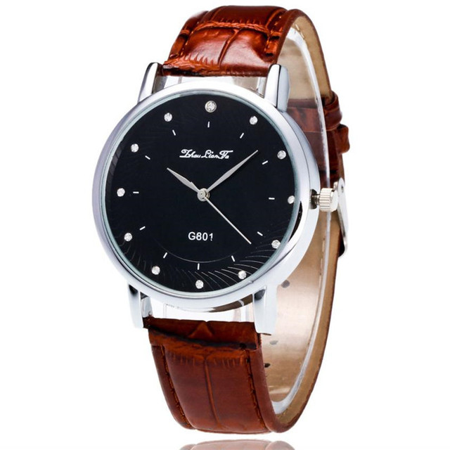 Cople Clock Men's And Women's Fashion Classic Leather Simple Luxury Quartz Stain