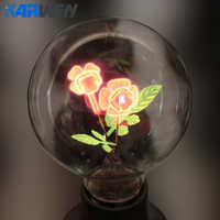 KARWEN Edison Bulb E27 indoor night light G80-Rose & Flower & I-Love-You Holiday christmas wedding decor incandescent Bulbs